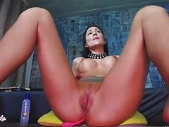Romanian, medical nurse work on webcam