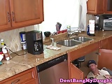 Amateur teen doggystyled by older plumber guy