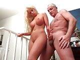 German blonde handjob