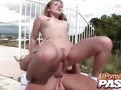 Swimming Pool Penetrating Christie Lee Concludes With Cumshots