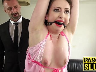 Nasty for subslut anal and gagged spanking destruction