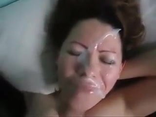 amateur wife reluctant facial