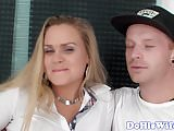 Real euro wife pounded in cuckold session