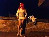 tranny public stripping