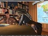 Schoolgirl fun in Second Life