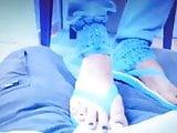 Amputee getting sexy nurse footjob