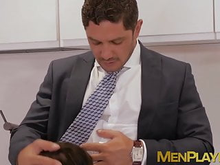 in fucking suits gays kissing and Handsome passionately anal