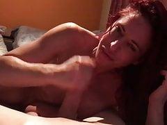 Redhead cougar sucks like a queen