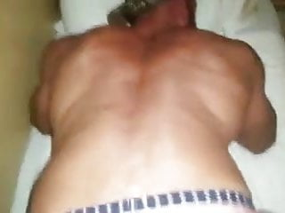 Muscled Bathhouse Cumdump takes Daddy's Load