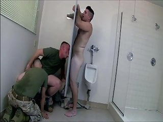 Army 039 gloryhole 2 threesome...