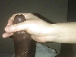 Huge cumshot from handjob massage...