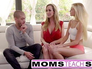 Moms Teach Sex – Big tit mom catches daughter
