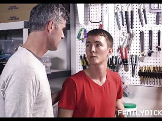 Young Fit Twink Stepson Fucked By Stepdad In The Garage