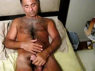Daddy strokling his cock...