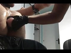 Mistress Noha stretching my ass