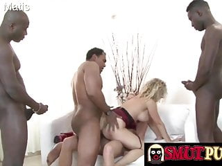 Smut Puppet – Interracial big black cock Gangbang Compilation Half 2