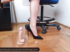 Fetish treatment for a lucky dildo