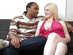 Fat Sexy Blonde, First Interracial Porn