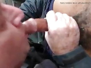 Daddy sucks the cum and cleans up