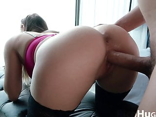 Horny Teen Teasing Wet Pussy and Doggystyle with Big Dick