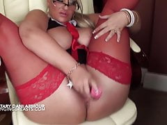 Big boobs Danni Amour talks dirty