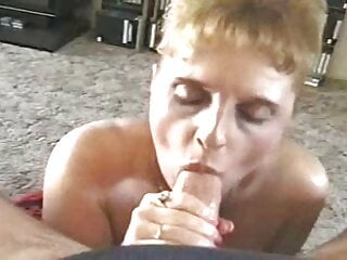 Busty mature Tina Mint gives a sensual blowjob