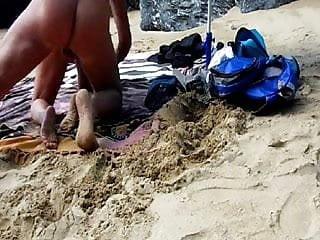 Fucked doggy style beach...