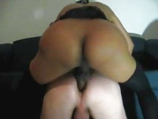 Tranny dominates guy...