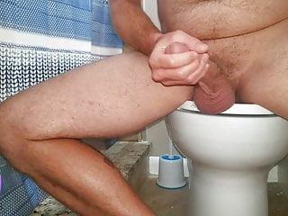 Step bro cums bathroom while sis masturbates prv...