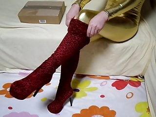 Leopard Jumpsuit Boots Golden and