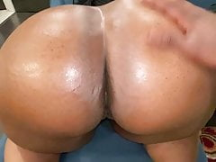 Oiled up BIG BOOTY