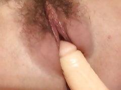Blonde MILF masturbating with vibrator