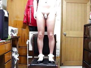 Chinese crossdressing cute pretty socks shoes masturbation 5...