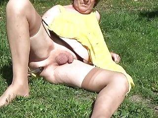 garden lingerie dildo tranny shemale anal 18
