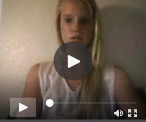 a tanline blonde teen on webcam