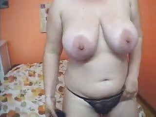 displays MILF Flabby juggs huge her