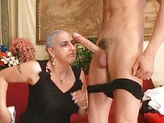 Granny sucks huge...