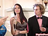 Bigtitted glamour model pussyfucked after bj