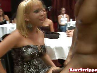 Cfnm babe sucking strippers...