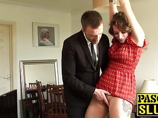 Ava rides fat cock after getting her ass slapped very hard