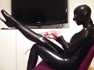 latexcatsuit schwarz