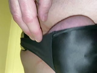 riding my butt plug in my wet look leggings in chastityHD Sex Videos
