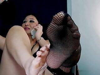 Mature Milf Cougar Mom Teasing BBC. Feet teaser
