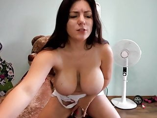 Russian Girl with Big Boobs riding dildo on chaturbate