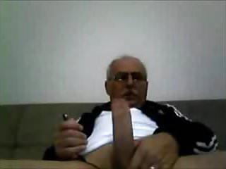 Chilean grandpa wanking gay...