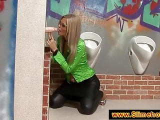 Spex platinum blonde at the glory hole