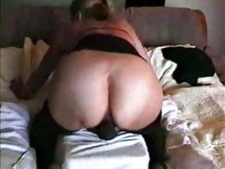 Big Black Dildo In Her Cunt