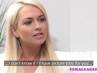 FemaleAgent Una bionda timidamente seriamente sexy crea un casting hot