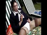 French Maude Baccardi in beurette en uniforme