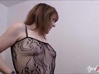 Mature pandora in black negligee...
